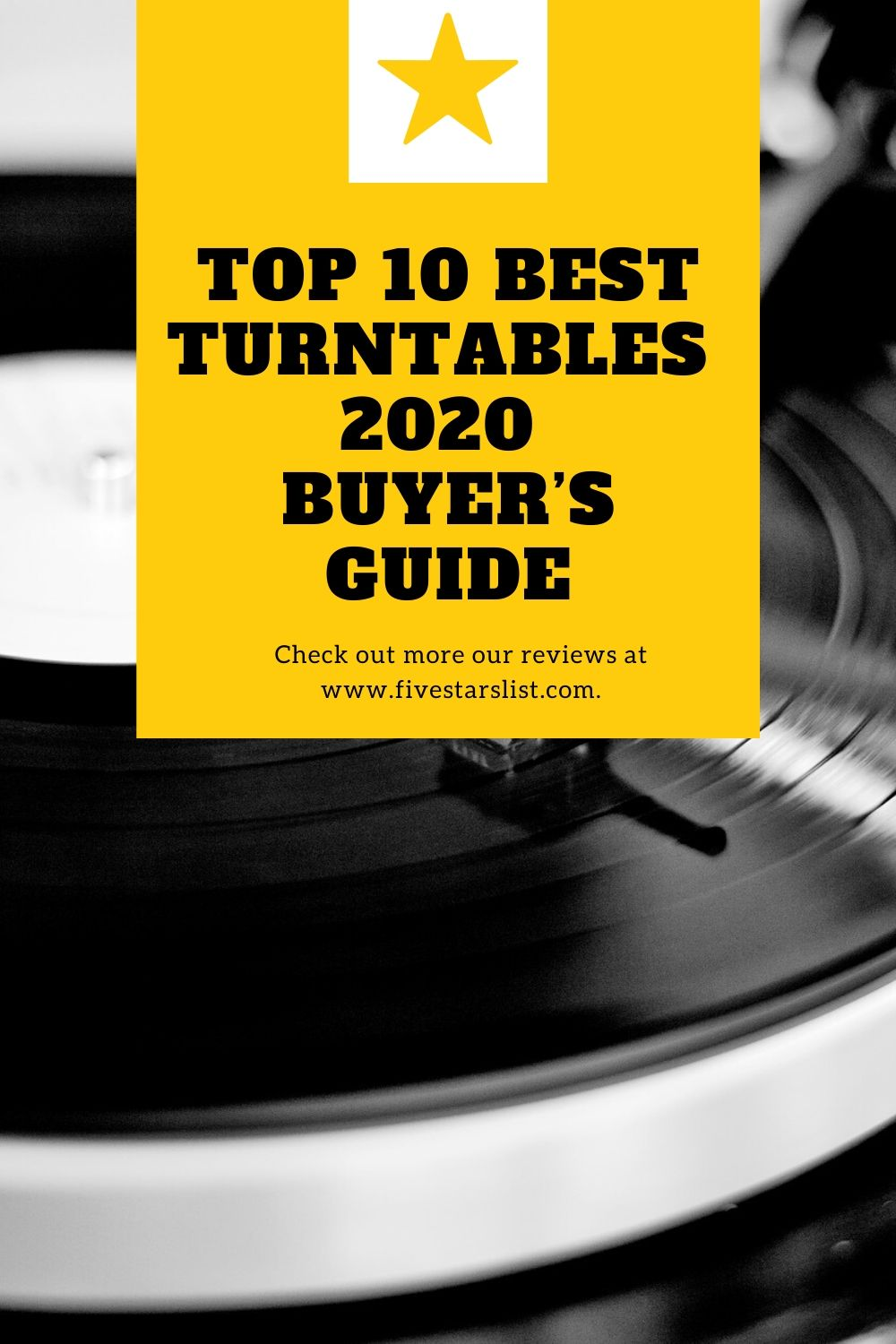 Top 10 Best Turntables – Buyer's Guide