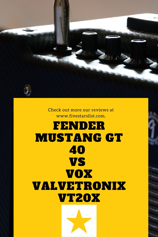 Fender Mustang GT 40 vs VOX Valvetronix VT20X