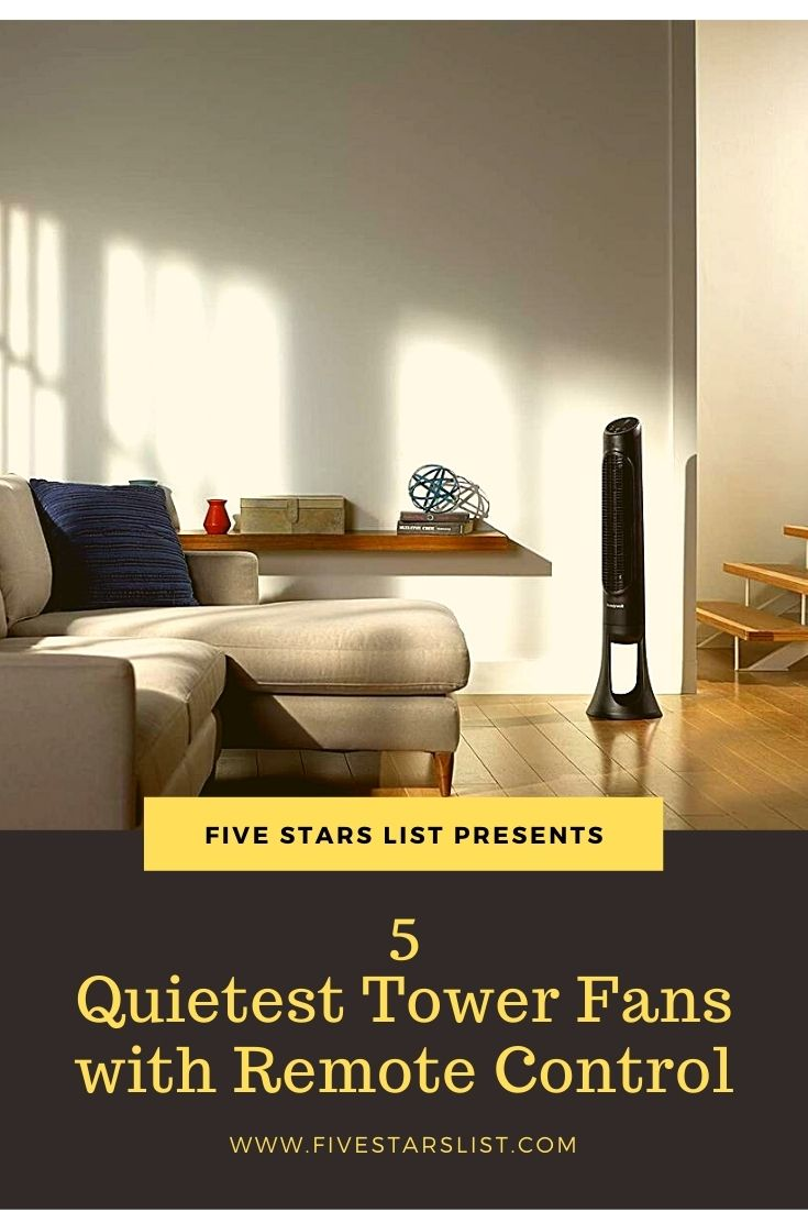 5 Quietest Tower Fans with Remote Control