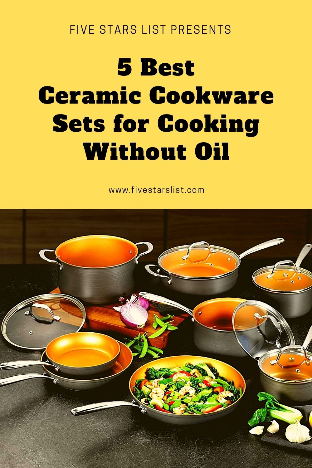 5 Best Ceramic Cookware Sets for Cooking Without Oil