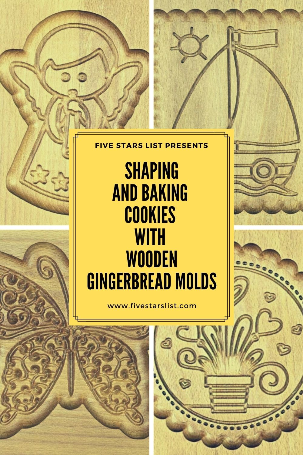 Shaping and Baking Cookies with Wooden Gingerbread Molds