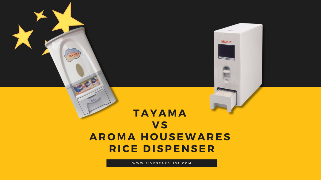 Tayama vs Aroma Housewares Rice Dispenser