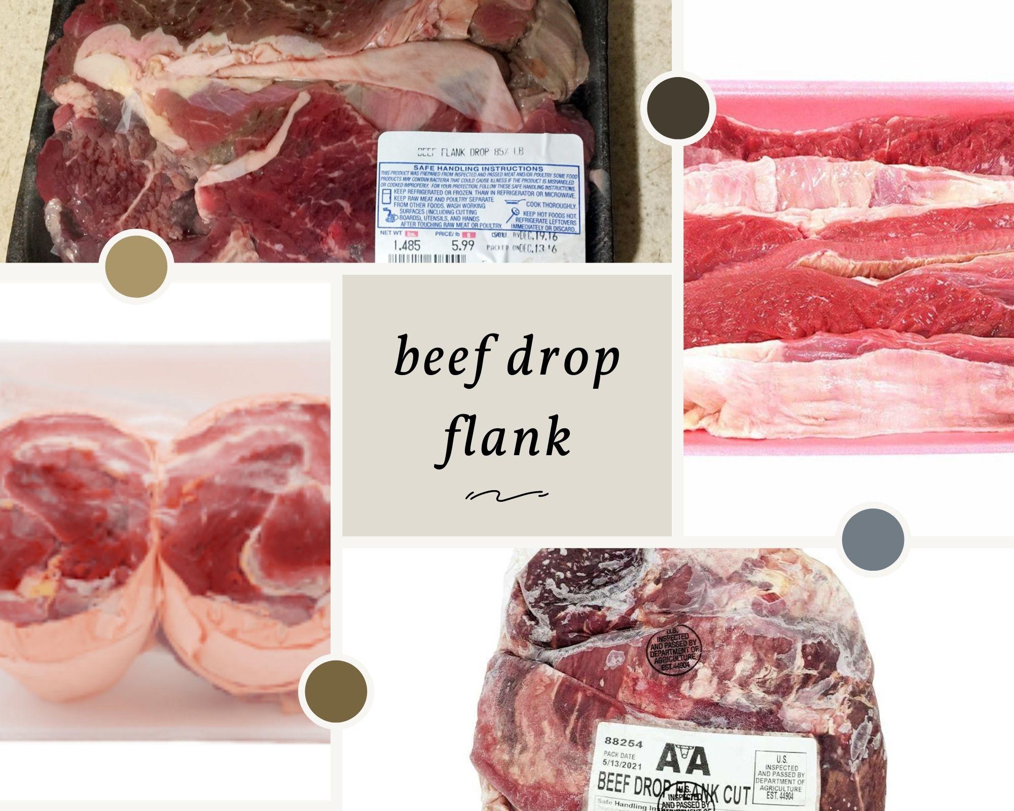 Beef drop flank